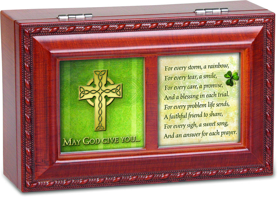 May God Give You Dual Framed Wooden Music Box