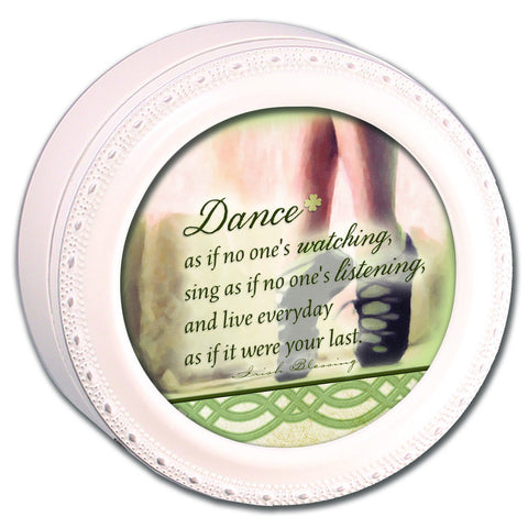 Dance Irish Round Wooden Music Box