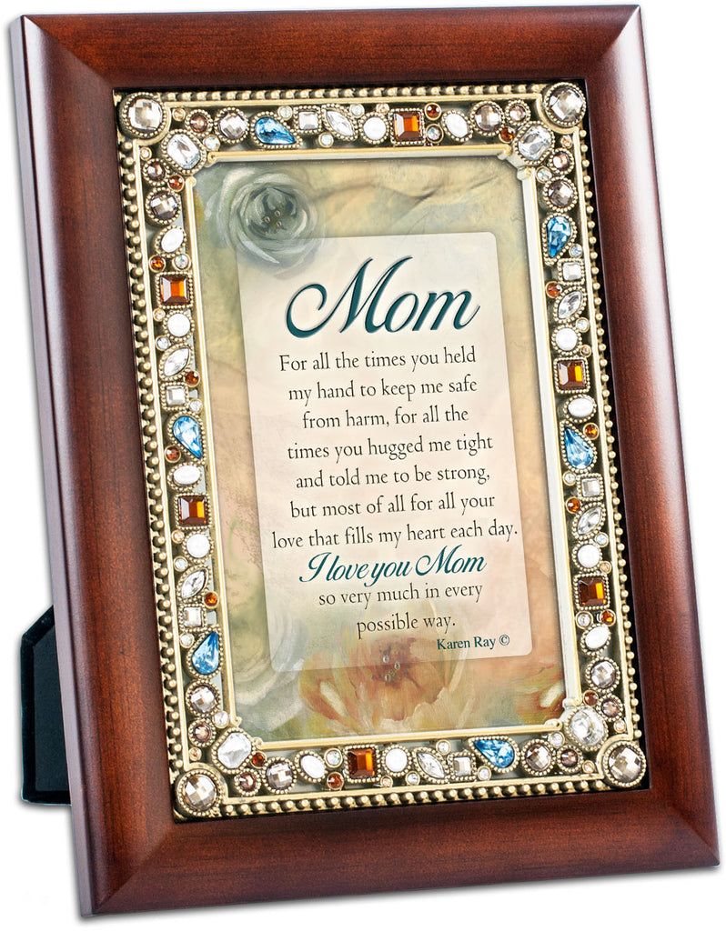 Mom Jeweled Wood Frame