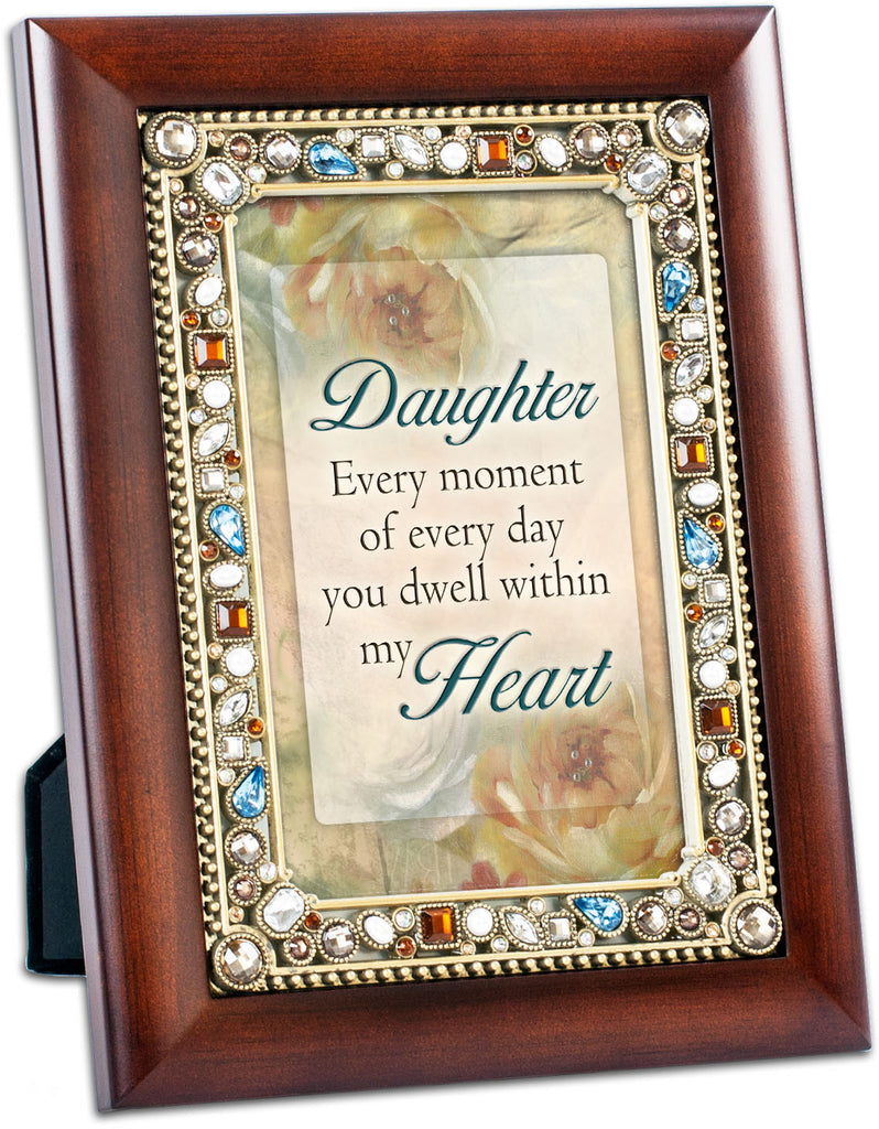Daughter Jeweled Wood Frame