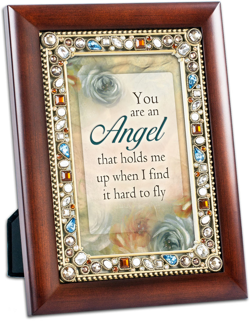 You Are Angel Jeweled Wood Frame
