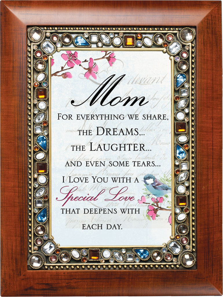 Mom Special Love Jeweled Wood Frame