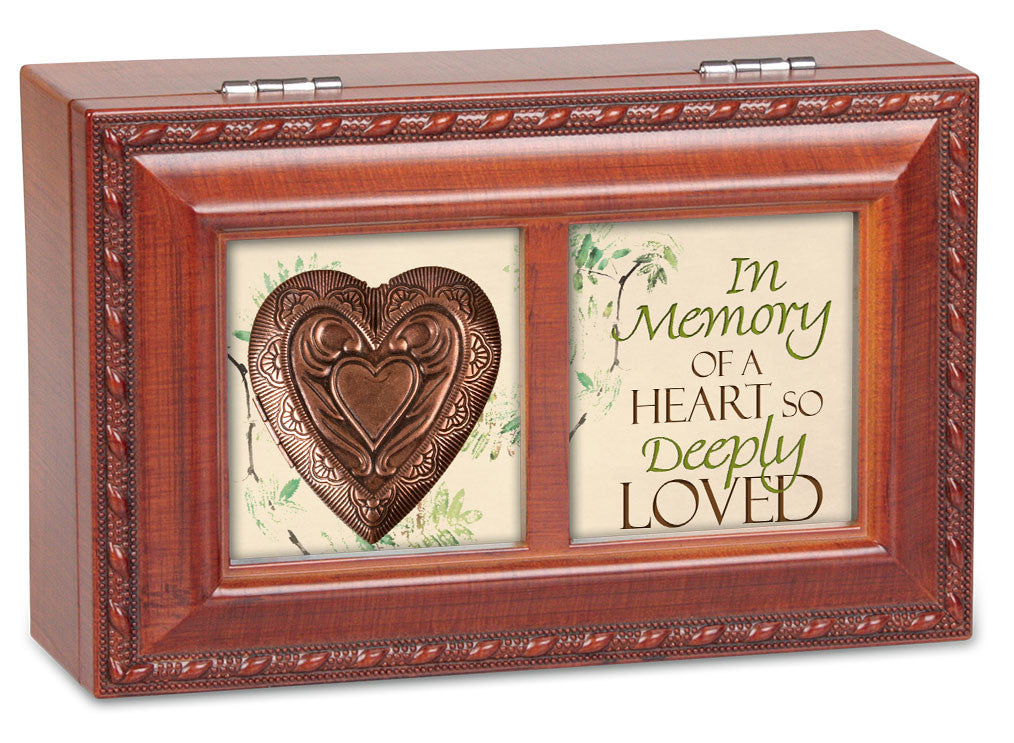 In Memory Dual Framed Wooden Music Box