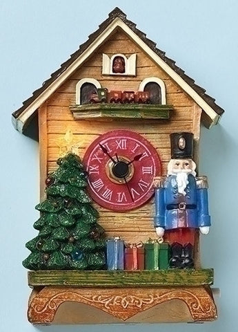 "MUSICAL 6"" LED NUTCRACKER CLOCK"
