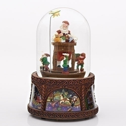 "MUSICAL 8""SANTA TOY SHOP DOME"