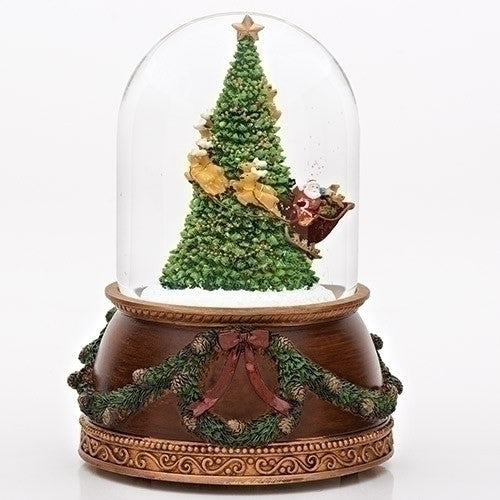 "7.75"" MUSICAL SANTA AROUND TREE DOME"