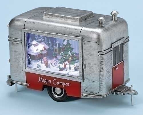 "9""W MUSICAL LED CHRISTMAS TRAILER"