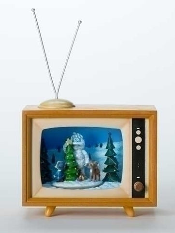 "6.75""H RUDOLPH TV MOTION DISPLAY"
