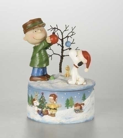 "8"" MUSICAL CHARLIE/SNOOPY DECO TREE"