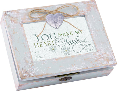 You Make My Distressed Wood Locket Box