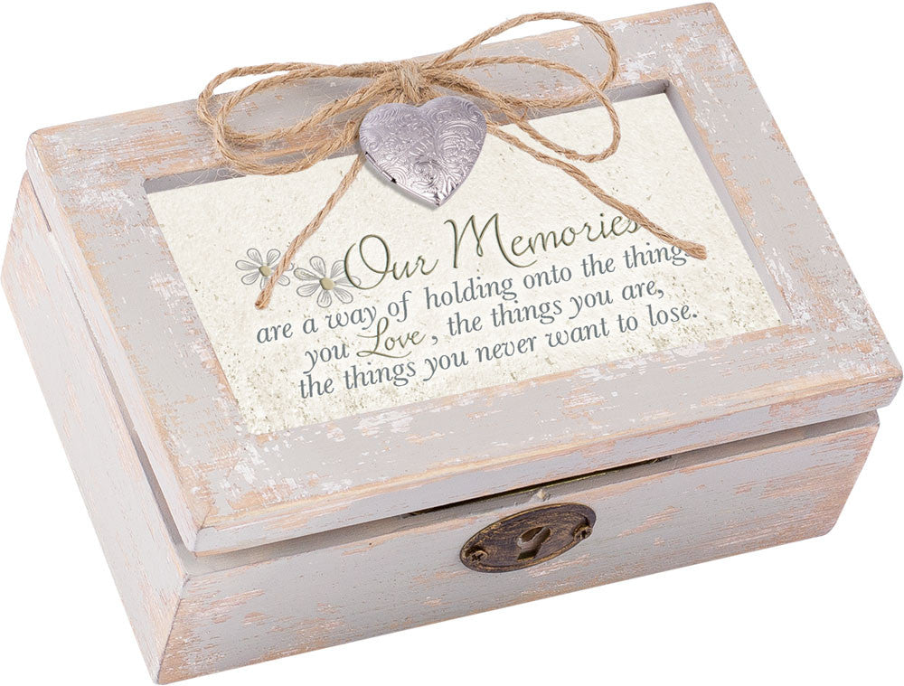 Our Memories Petite Distressed Wood Locket Box