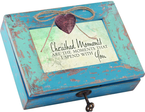 Cherished Moments Distressed Wood Locket Box