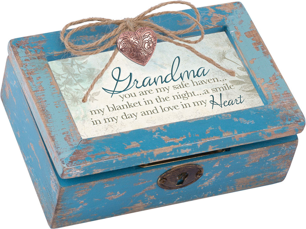 Grandma Petite Distressed Wood Locket Box