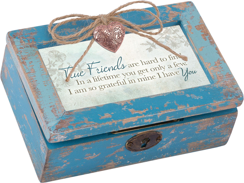 True Friend Petite Distressed Wood Locket Box