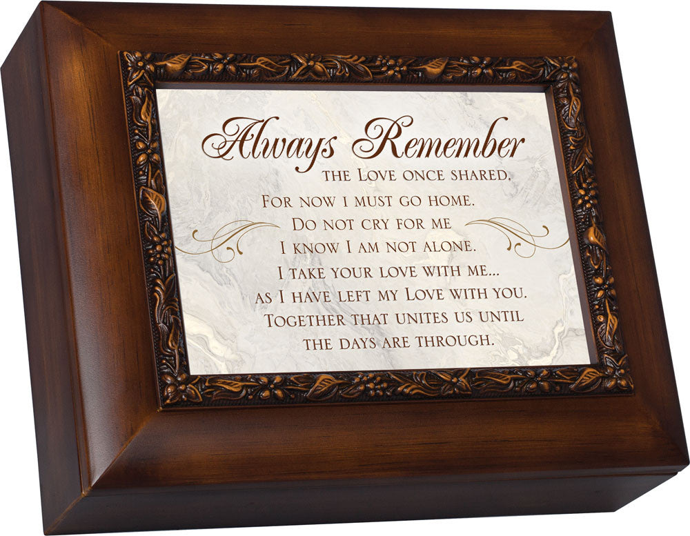Always Remember Wood Grain Bereavement Box