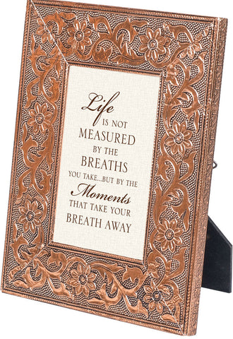 """Life's Moments"" Copper Embossed Frame"