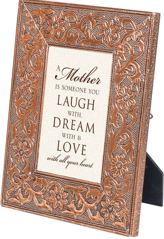 """Mother"" Copper Embossed Frame"