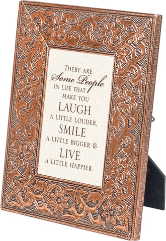 """Some People"" Copper Embossed Frame"
