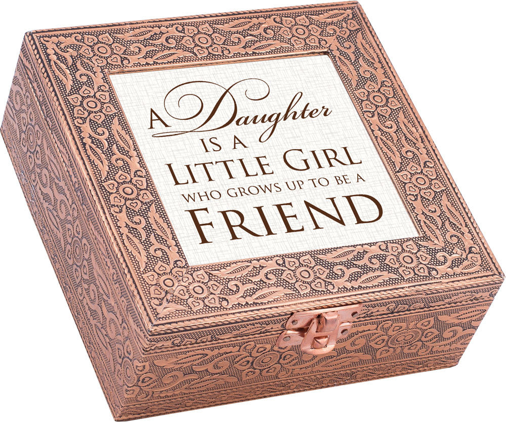 """A Daughter Is"" Copper Embossed Music Box"