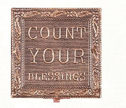 """Count Your Blessings"" Copper Embossed Jewelry Box"