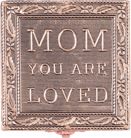 """Mom You Are Loved"" Copper Embossed Jewelry Box"
