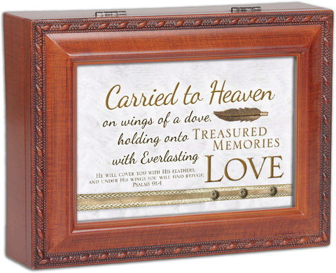 Carried To Heaven Wooden Music Box