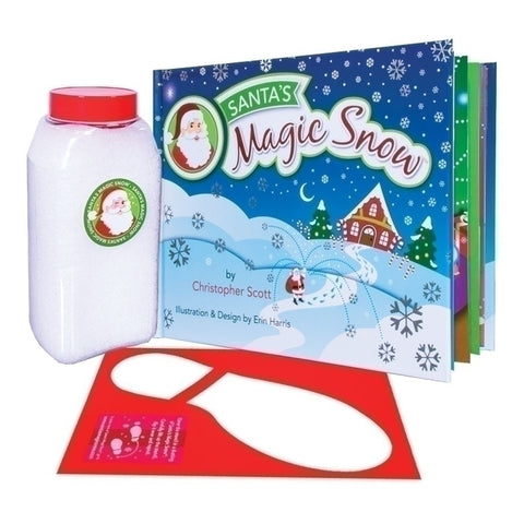 Santa's Magic Snow with Book Snow and Boot Stencil