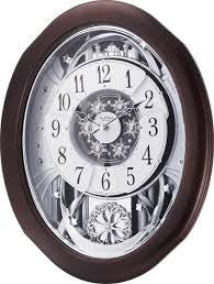Anthology Espresso Musical Motion Wall Clock