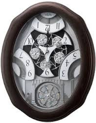 Glory Espresso Musical Motion Wall Clock