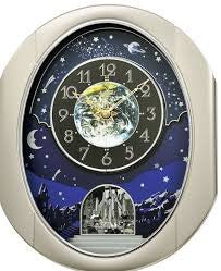 Peaceful Cosmos II Musical Motion Wall Clock