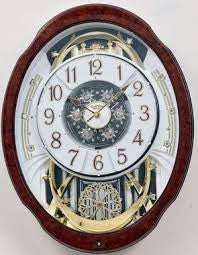 Woodgrain Marvelous Musical Motion Wall Clock