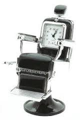 Swivel BARBER CHAIR Clock (Silver)