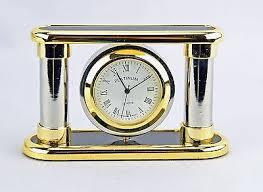 CLOCK STAND with Rotating Photo Frame Clock (Gold)