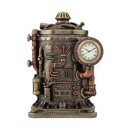 Steampunk Mysterious Container Clock