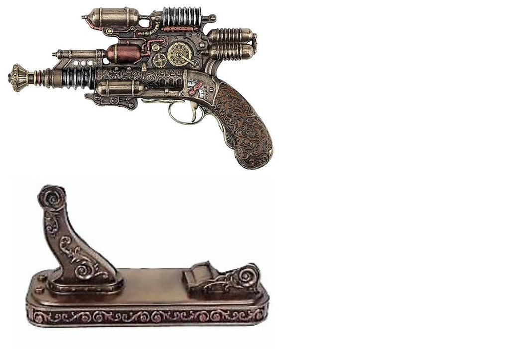 Steampunk Gauss Coil Pistol With Matching Base