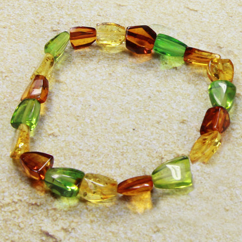 Bracelet Baltic Amber and Copal – Caribbean Dream Oval
