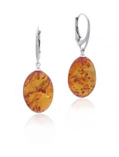 Earring Baltic Amber and Sterling Silver – Oval