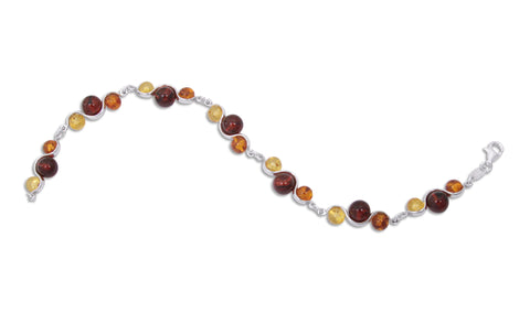 Bracelet Honey, Citrine, Cherry, Baltic Amber and Sterling Silver – Bead