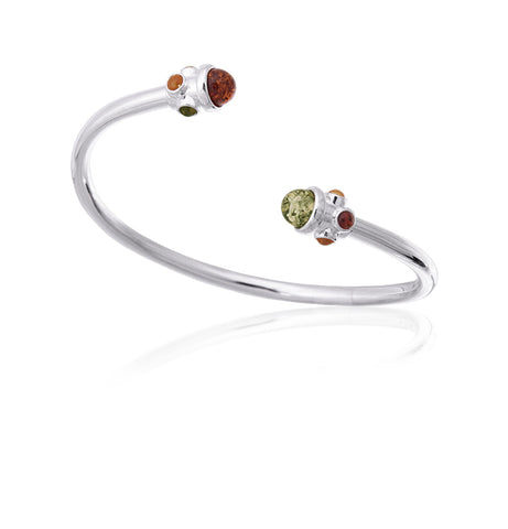 Bracelet Multicolor Baltic Amber and Sterling Silver – Regal Scepter