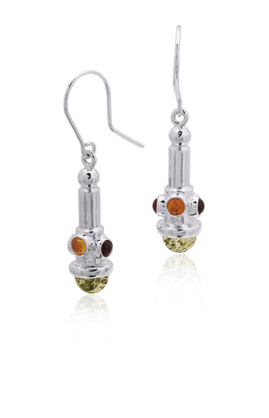 Earring Green Baltic Amber and Sterling Silver – Regal Scepter