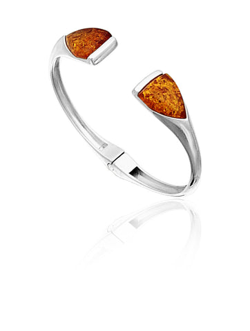 Bracelet Honey Amber and Sterling Silver – Triangle