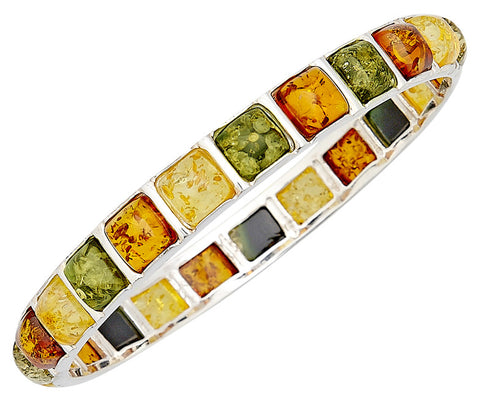 Bracelet Multicolor Baltic Amber – Square