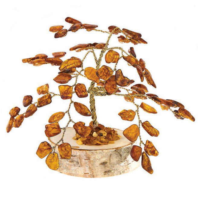Figurine Baltic Amber Good Luck Tree