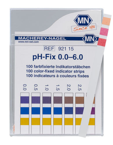pH-Fix 0-6 Test Strips 100/pk