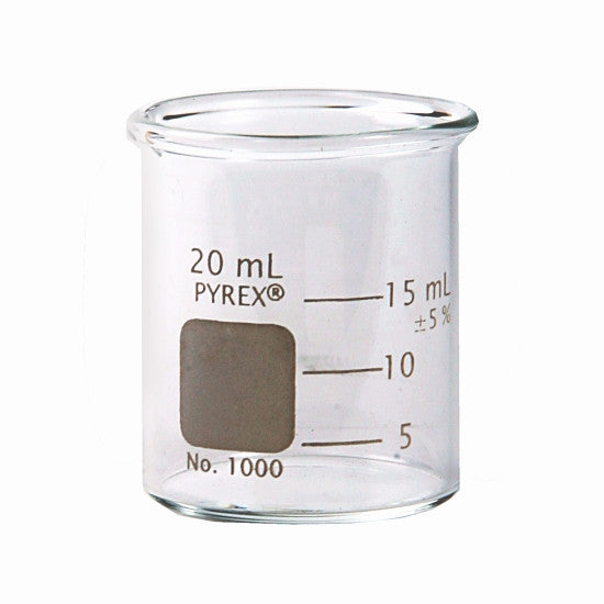 PYREX® Griffin Low Form Graduated Beaker - 20mL