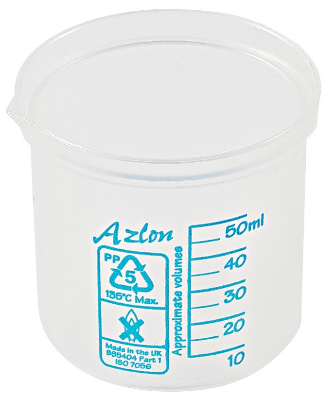 Azlon Polypropylene Graduated Beaker - 50 ml