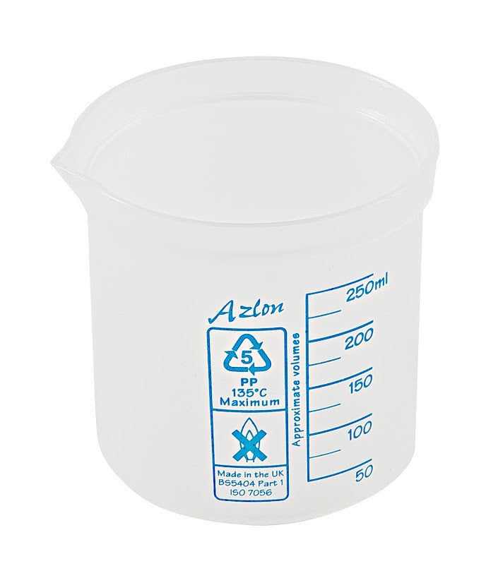 Azlon Polypropylene Graduated Beaker - 250 ml