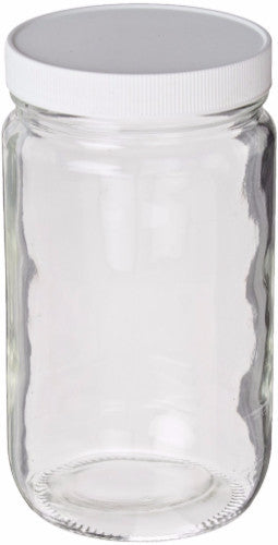 Clear Tall Wide Mouth Glass Jar ~ 32 oz. 1000 mL