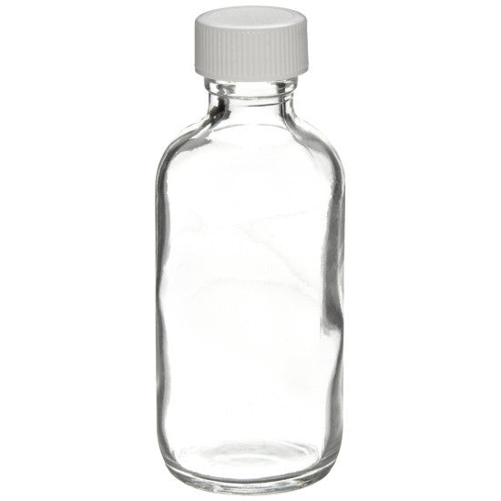 Clear Boston Round Glass Bottles ~  2 oz. 60mL