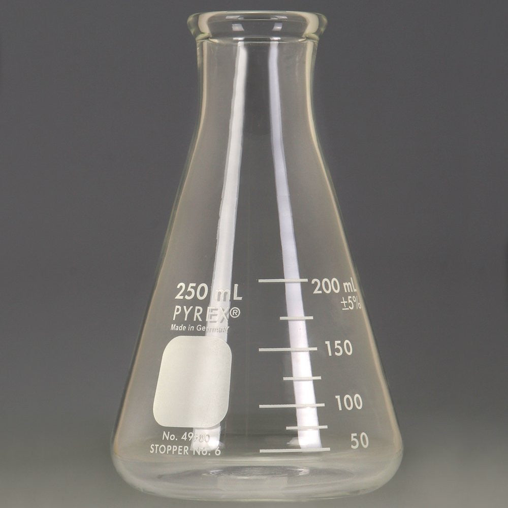Erlenmeyer Flask, Narrow Mouth, Pyrex®, 250 mL - The Science Shop - 1